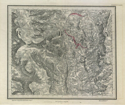 MS&LR/Great Central Railway planning map Chesterfield ORDNANCE SURVEY #82SW 1882