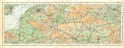 Somerset Wiltshire Berkshire Hampshire Salisbury Plain. ORDNANCE SURVEY 1922 map