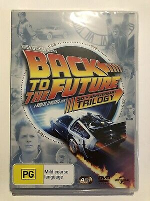 Back To The Future (DVD, 4-Discs, Trilogy) Brand New & Sealed PG Region 4 Aus🍿
