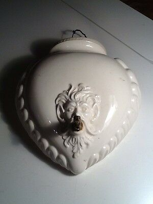 White Porcelain Wall Mount Pocket Planter With Spigot Made In Italy