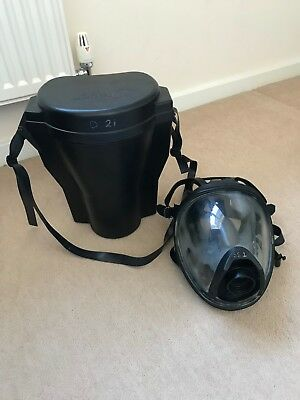 Drager F2 Full Face Mask with Head Harness, Filter Slot and Hard Shell Case