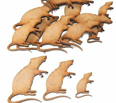 Wooden MDF Mouse / Rat Shapes Bunting Craft Embellishments Animal Decorations