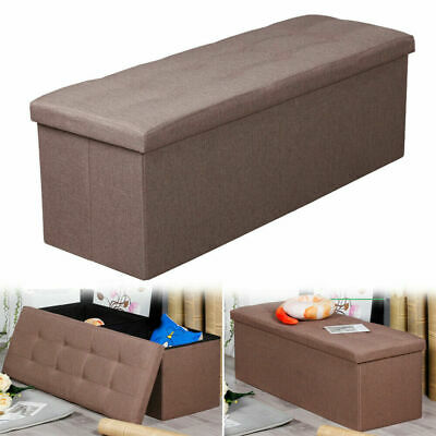 Astonishing Contemporary Faux Leather Storage Ottoman Bench Foldable Pabps2019 Chair Design Images Pabps2019Com