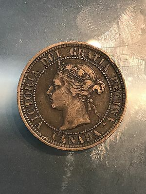 Victoria Large Cent 1891 Large Date Large Leaves, 4/26/17