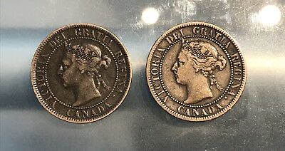 1893 & 1897 Canada Large Cent lot, Free Shipping