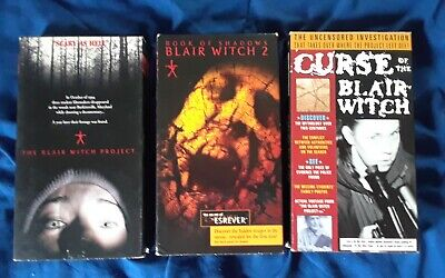 Blair Witch VHS horror lot Project 2 Book of Shadows Curse