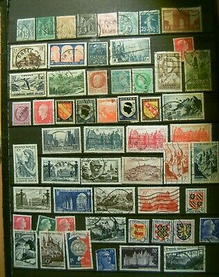 Lot collection Timbres oblitérés France anciens avant 1960 lot88