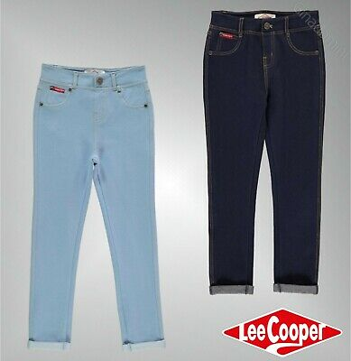 Girls Lee Cooper Button Fastening Skinny Fit Denim Jeggings Sizes from 7 to 13
