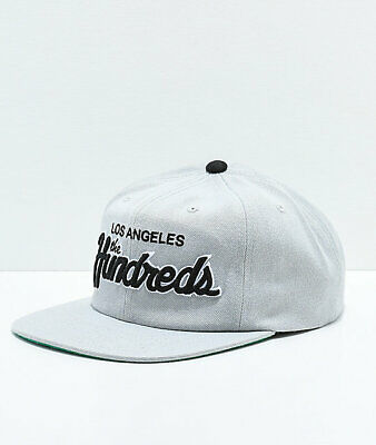 daef79a2d28d83 The Hundreds Team Two Los Angeles Grey Black Embroidered Snapback Hat LA  Bomb