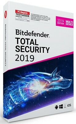 Bitdefender Total Security 2019 Multi Device  [1 Jahr / 12 Monate | 3 Geräte++]
