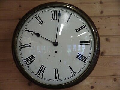 Fusee Dial Clock Very Early Convex Dial Convex Glass Thin Wood Frame 1850/60s