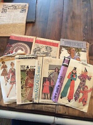 Huge WORKBASKET Vtg craft Magazine LOT 45 1950s crocheting knitting patterns 60s