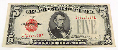 1928 Two Dollar Bill Red Seal Note Randomly Hand Picked VG Fine FREE SHIPPING!