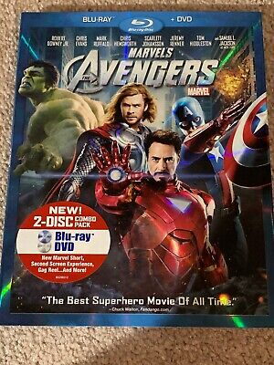 The Avengers (Blu-ray/DVD, 2012, 2-Disc Set) Perfect