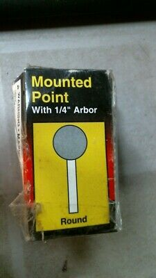 "ALI  A25 #6156 Mounted Point Sanding Stone with 1/4"" Arbor, FREE SHIPPING"