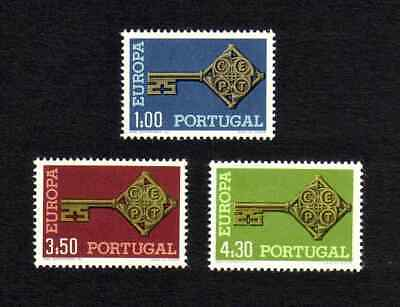 Portugal 1968 Europa complete set of 3 values (SG 1337-1339) MNH