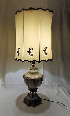 """Very Large Victorian Art Nouveau Table Lamp by Castings Inc. Stands 40"""" tall"""