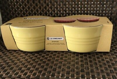 Set of 2 Le Creuset  Ramekins Stoneware 0.2L Elysees Yellow ( BNIB)