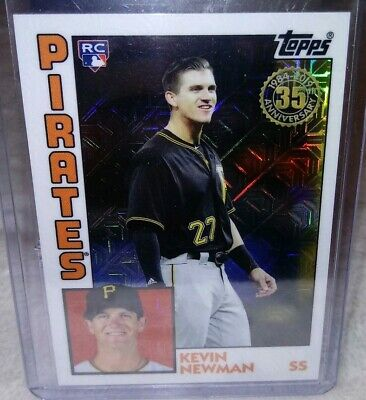 2019 Topps Series 2 Silver Pack 1984 Chrome Refractor 32 KEVIN NEWMAN Pirates RC