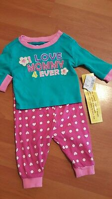 The Childrens Place Pajamas set 0-3 Months NWT I Love Mommy 4ever baby girl