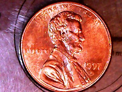 """1997 D Lincoln Cent  >>> Mint Toning <<<  *** MD """"Gem Tone"""" Collection ***"""