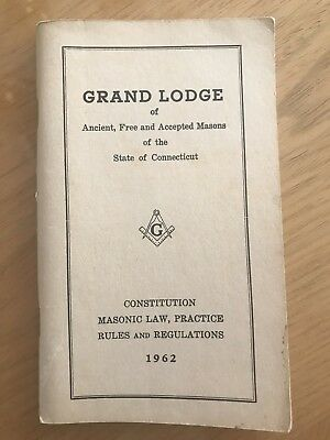 1977 CONSTITUTION AND BY-LAWS-1958 Book by Grand Lodge of