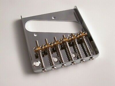 Chrome Tele Telecaster Vintage Style Bridge with Individual Brass saddles
