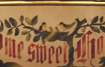 """Unique """"BIRD NEST FAMILY"""" Black Forest Needlepoint Home Sweet Home  * Mom & Dad"""