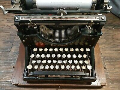 Antique Underwood Typerwriter No 5 WITH CASE Fully Working
