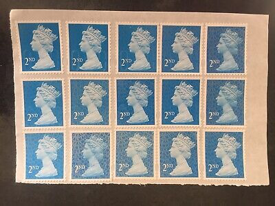 100x 2nd Class (second) Unfranked Stamps. Full Original Gum