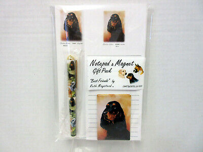 New Gordon Setter Dog List Pad Note Pad Magnet Pen Stationery Gift Pack SEC-2
