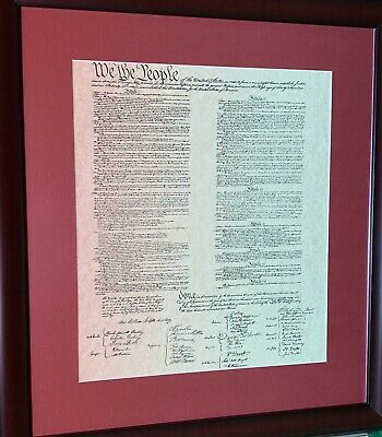 """CONSTITUTION OF THE UNITED STATES OF AMERICA Framed Print, 23""""x 21"""""""
