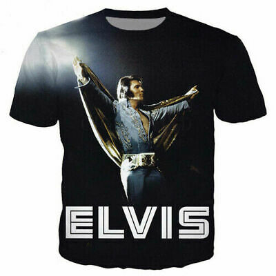 Singer King Elvis Presley 3D Print Casual T-Shirt Women Men Short Sleeve Tops