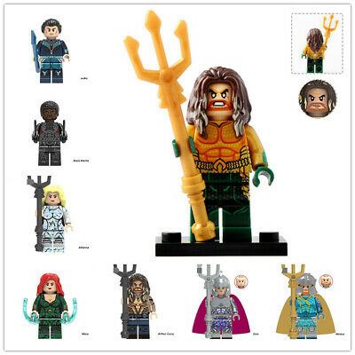 Aquaman Black Manta Vulko Atlanna Mera Arthur Curry Nereus Orm Building Block