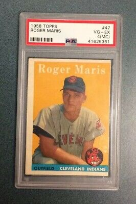 1958 Topps 47 Roger Maris Psa 4 Mc Rookie Card Rc Baseball Legend