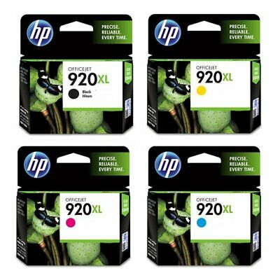 4-PACK HP GENUINE 920XL Black & Color Ink (NO RETAIL BOX) OFFICEJET 6000 6500