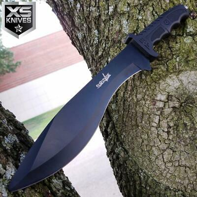 "SURVIVOR 15"" WICKED CURVE Fixed Blade COMBAT Hunting Knife MACHETE KUKRI"