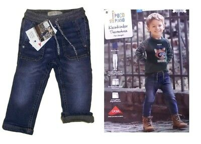 Thermo Kid's Pants Toddler Jeans Pants Children Jeans Elastic Band Size 80 New