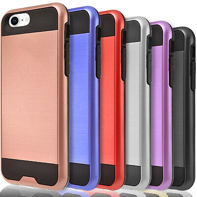 For iPhone XS Max X XR 8 Plus 7 6 6S Plus Case Cover+Tempered Glass Protector