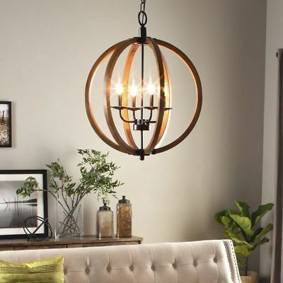 Farmhouse Lighting Rustic Chandelier Vineyard French Country