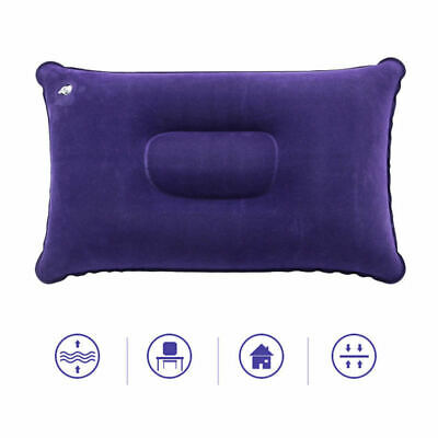 Travel Outdoor Pillows Air Inflatable Pillow Cushion Beach Car Plane Bed XFI