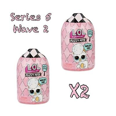 2 LOL Surprise Makeover Series Wave 2 Fuzzy Pets Doll Ball 6 Sparkle 1 In Hand