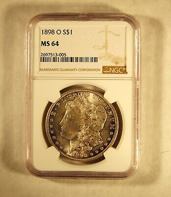 1898 O Morgan Silver Dollar $1 Ngc Certified Ms 64 Mint State