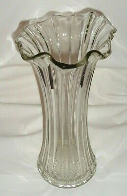 Vintage Crown Crystal Lily Gum Tip Vase Depression Glass Flower Vase c1926 /#295