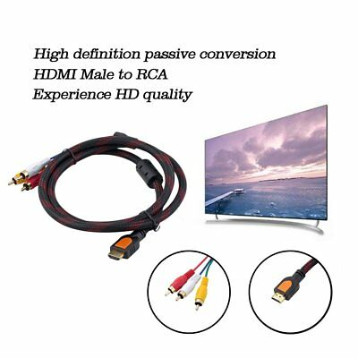 5ft HDMI Male to RCA Video Audio AV TV Cable Adapter for PS3 PS4 Xbox One Wii RM