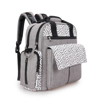 3 in 1 Diaper Bag Backpack Maternity Nappy Tote Changing Pad Bag
