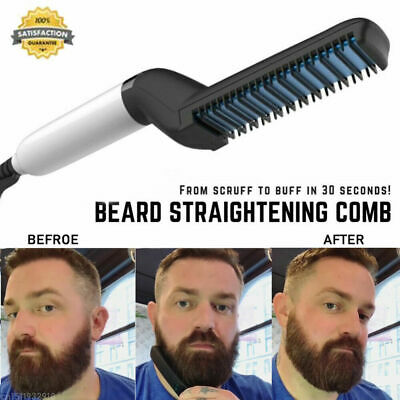 Quick Beard Straightener Multifunctional Hair Comb Curling Curler For Man s