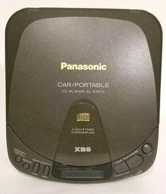Vintage 1993 Panasonic Portable CD PLAYER Model #SL-S151C TESTED Works GREAT!