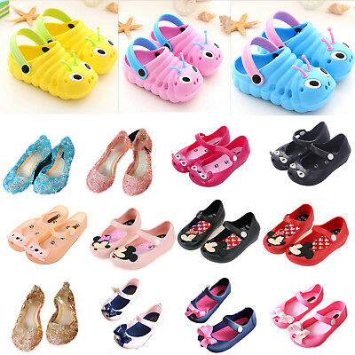 Toddler Kids Girls Cartoon Sandals Slip On Shoes Summer Beach Holiday Casual AU