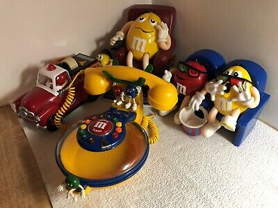 Lot of 4 M&M Candy Dispensers (Firetruck, Lazy Boy Chair, At The Movies & Phone)